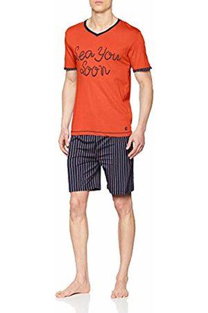 ALAN BROWN Men's's Ah.Fish.psh1 Pyjama Set, Corail/Marine