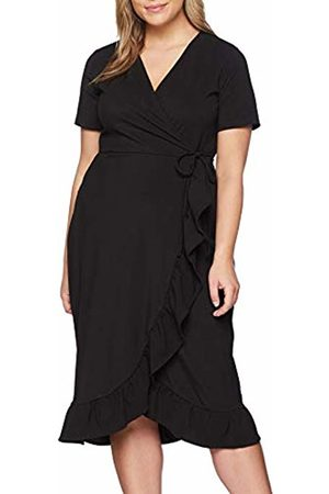 Lost Ink Women's Jersey WRAP Dress with Frill Party ( 0001)