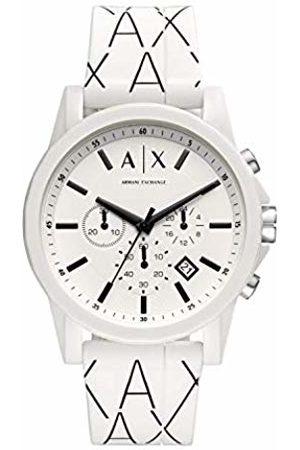 Armani Exchange Mens Chronograph Quartz Watch with Silicone Strap AX1340