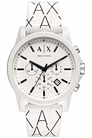 Armani Mens Chronograph Quartz Watch with Silicone Strap AX1340