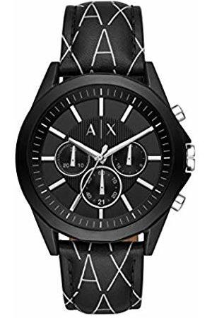 Armani Mens Chronograph Quartz Watch with Leather Strap AX2628