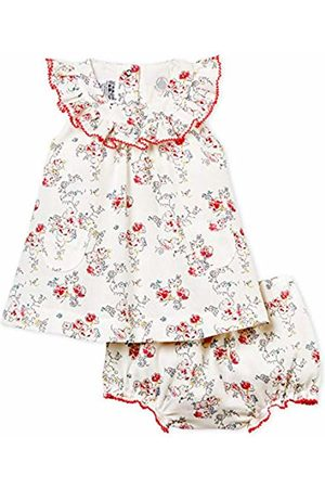 Petit Bateau Baby Girls' Babette Dress (Marshmallow/Multico 01) 68 (Size: 6M)