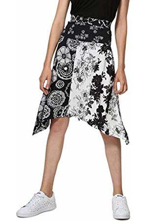 Desigual Women's FAL_Paola Skirt, Negro