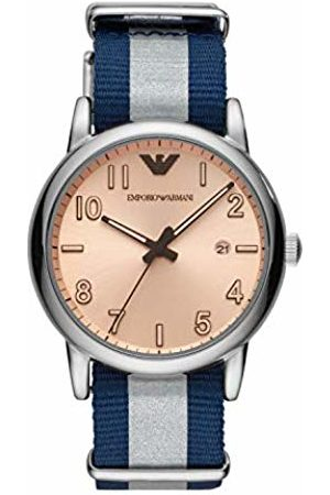 Emporio Armani Mens Analogue Quartz Watch with Nylon Strap AR11212