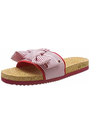 flip*flop Women Sandals - Women's's poolbow Stripe Mules Rot (Shanghai 6320)