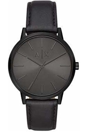 Armani Mens Analogue Quartz Watch with Leather Strap AX2705
