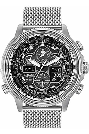 Citizen Navihawk AT Men's Eco Drive Watch with Dial Analogue/Digital Display and Stainless Steel Bracelet JY8030-83E