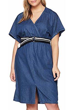 Lost Ink Women's's Denim Dress with WRAP & Belt 0021