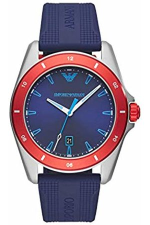 Armani Mens Analogue Quartz Watch with Silicone Strap AR11217