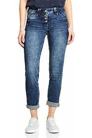 Cecil Women's's 371967 Scarlett Straight Jeans mid wash 10281