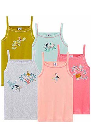 Petit Bateau Girls' Chemise à Bretelles_4800000 Vest Mehrfarbig (Variante 1 00) 6 Years Pack of 5