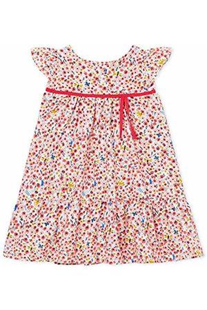 Petit Bateau Baby Girls' Bec Dress (Marshmallow/Multico 01) 62 (Size: 3M)