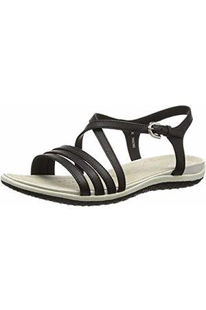 Geox D Sandal Vega C, Women's Wedge Heels Sandals, (Blackc9999)