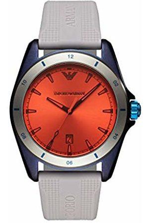 Armani Mens Analogue Quartz Watch with Silicone Strap AR11218