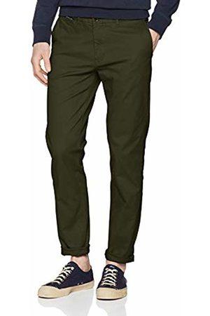 Scotch&Soda Men's's Mott- Classic Cotton/Elastane Chino Trouser (Military 0360) W36/L32 (Size: 36/32)