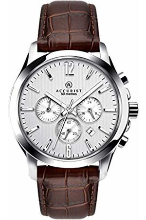Accurist Men's Quartz Watch with Dial Chronograph Display and Leather Strap 7197