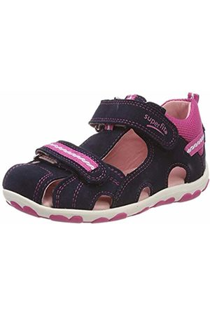 d7b0e8d834c5 Superfit Baby Girls  Fanni Open Toe Sandals (Blau Rosa 80) 6 UK