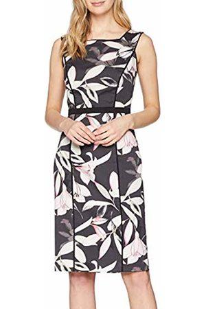 Comma, Women's 8T.903.82.4864 Dress, Mehrfarbig AOP Spring Flower 96u2