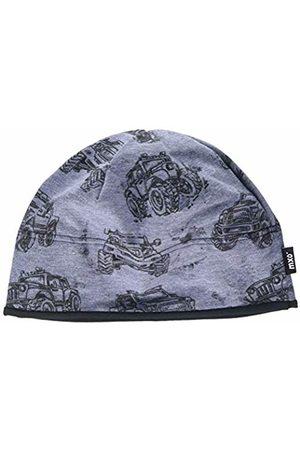 maximo Boy's Beanie, Aus Bedrucktem Jersey Mit Monster Trucks Hat (Bluemeliert-Schwarz 81)
