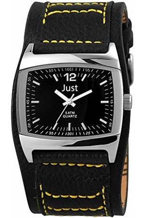 Just Watches Men's Quartz Watch 48-S10628-BK with Leather Strap