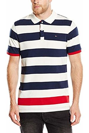Tommy Hilfiger Men's Rugby Stripe Short Sleeve Polo Shirt