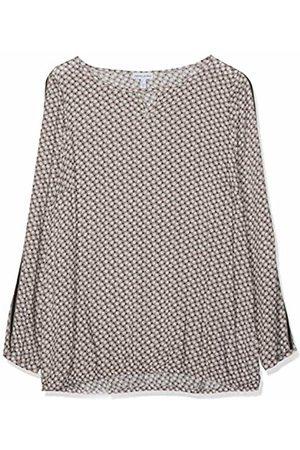 GINA LAURA Women's Bluse mit Gummisaum, Zierband Blouse