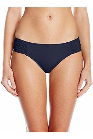 Seafolly Women's Ruched Side Retro Medium Coverage Bikini Bottom Swimsuit Indigo