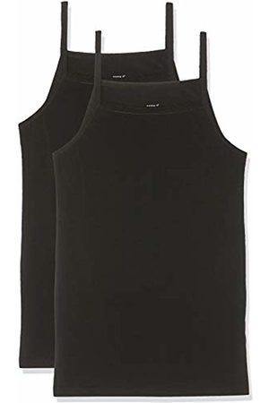 Name it Girl's Nkfstrap Top 2p Solid Noos Vest, Schwarz