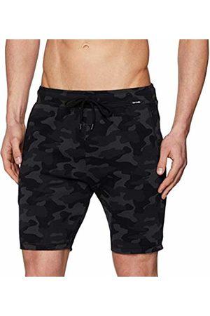 Skiny Men's's Sloungewear Jogginghose Kurz Sports Trousers Multicolored (Darkbean Camouflage 7091)