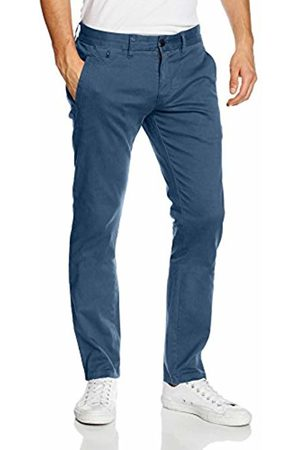 Tommy Hilfiger Men's THDM SLIM CHINO FERRY 1 BSTT PD Trousers, - Blau ( Wing Teal 418)