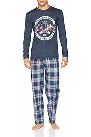 ALAN BROWN Men's Ah.rlmak.py Pyjama Set, Marine Chiné