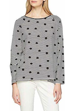GINA LAURA Women's Shirt Regular, Streifen U Punkte Print Sweatshirt