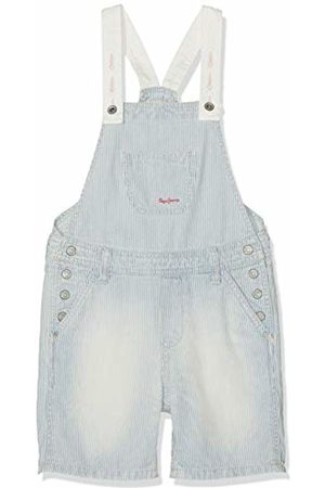 Pepe Jeans Girl's Pitch Dungarees, (10Oz Washed Hickory Denim 000)