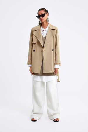 Zara Faux suede trench coat