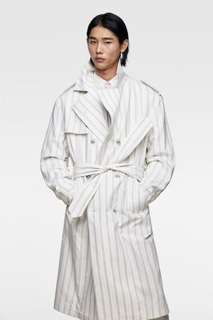 Zara Striped trench coat