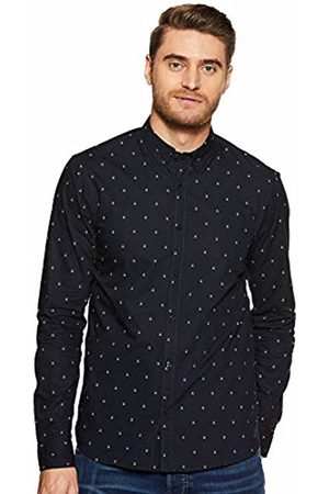 Scotch&Soda Men's Regular Fit AMS Blauw Allover Print Shirt in Seasonal Patter Casual