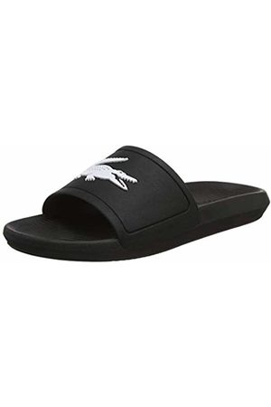 Lacoste Men's Croco Slide 119 1 CMA Open Toe Sandals, (Blk/Wht 312)