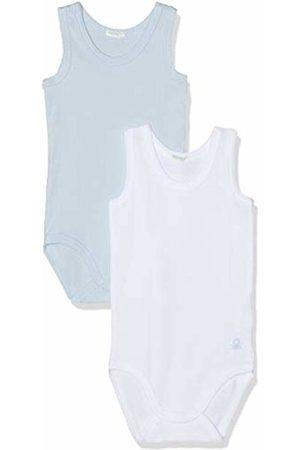 Benetton Baby Girls' 2 Bodysuit (Bianco + Celeste 912)