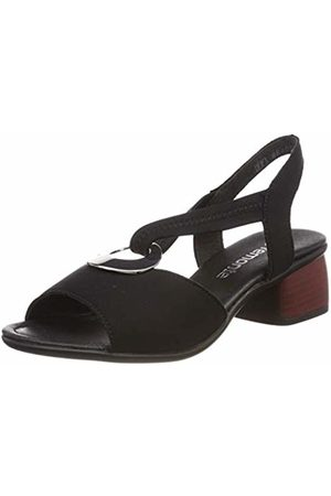 Remonte Women's's R8751 Sling Back Sandals (Nero 01) 4 UK