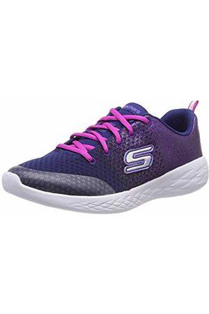 Skechers Girls' GO Run 600-SPARKLE Speed Trainers (Navy Nvpk) 3 (36 EU)
