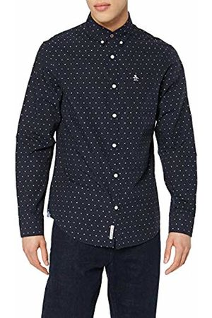 Original Penguin Men's All Over All Over Star Casual Shirt, (Dark Sapphire)