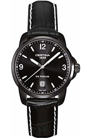 Certina Men's Wrist Watch XL Analog Quartz Leather C001.410.16.057.02