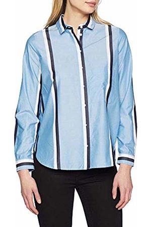 Seidensticker Women's's Hemdbluse Langarm Modern Fit Gestreift Blouse (Blau 10) 20 (Size: 46)