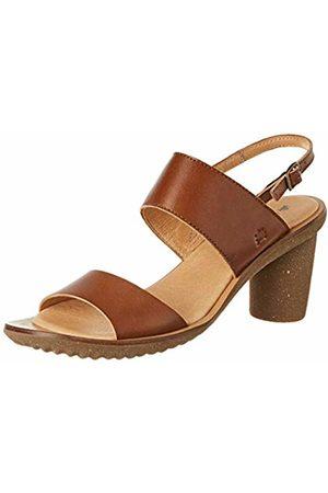 El Naturalista Women's N5154 Vaquetilla Caramel/Trivia Open Toe Heels