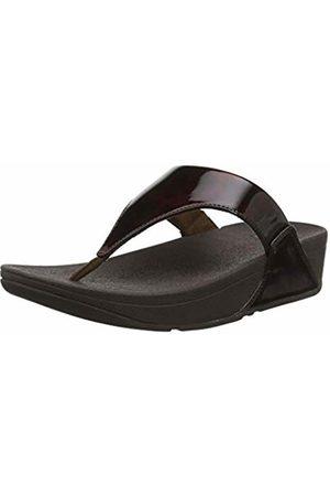 FitFlop Women's LULU Toe Post - Tortoise Shell PU Open Sandals 4 UK 37 EU
