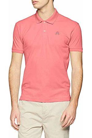 La Martina Men's's Man Polo S/s Piquet Stretch Shirt, (Geranium 05187)