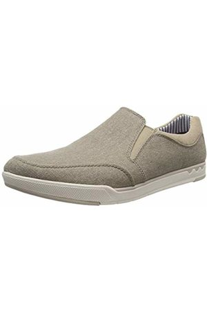 Clarks Men's's Step Isle Slip Loafers (Sand Canvas -) 11 UK