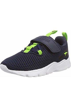 KangaROOS Kids' K-jube Ev Low-Top Sneakers (Dk Navy/Lime 4054) 4 UK