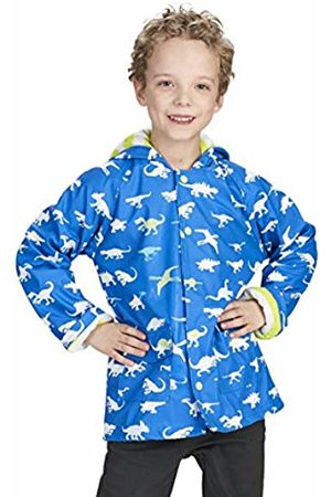 Hatley Boys Printed Rain Jacket, Blue (Dinosaur Menagerie)