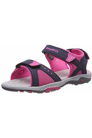 KangaROOS Kids' K-Belle Closed Toe Sandals Blau (Dk Navy/Daisy 4204) 2.5 UK